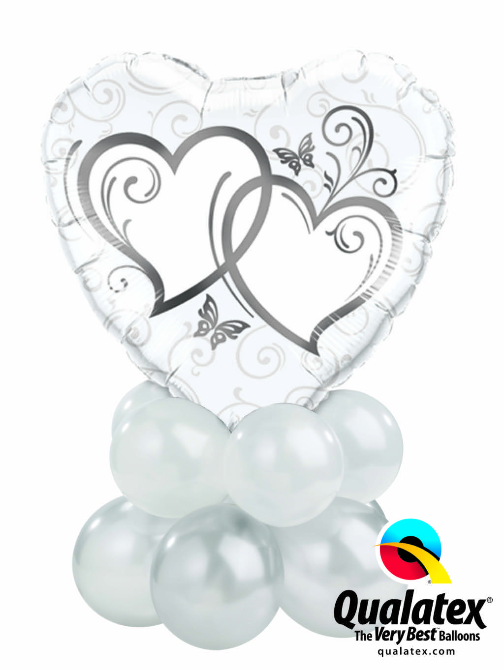 Entwined Hearts Silver Mini