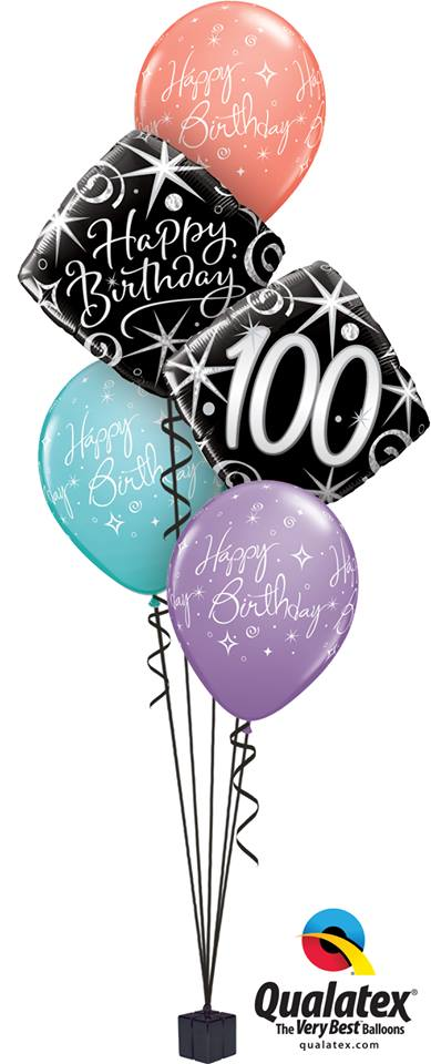 100th Happy Birthday Elegant Classic