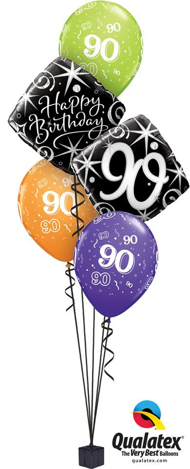 90th Happy Birthday Elegant Classic