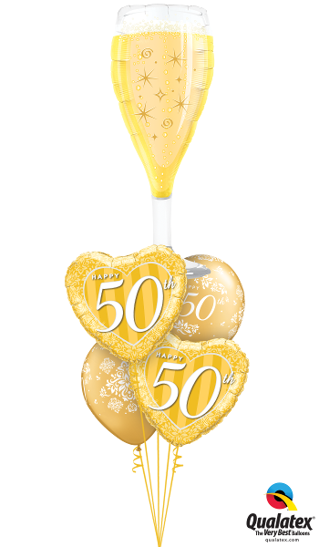 Golden 50th Anniversary Glass